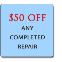 $50 Off Appliance Repairs in Fredericksburg VA